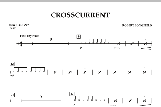 Crosscurrent - Percussion 2 (Concert Band)