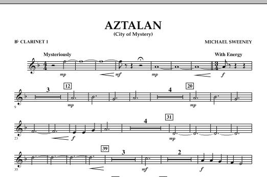 Aztalan (City of Mystery) - Bb Clarinet 1 (Concert Band)