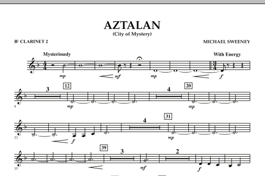 Aztalan (City of Mystery) - Bb Clarinet 2 (Concert Band)