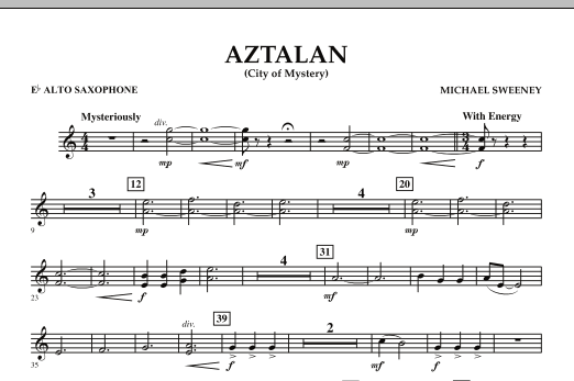 Aztalan (City of Mystery) - Eb Alto Saxophone (Concert Band)