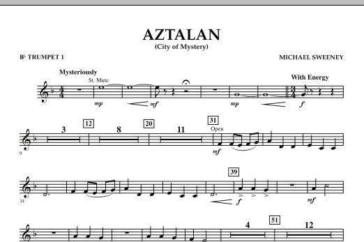 Aztalan (City of Mystery) - Bb Trumpet 1 (Concert Band)