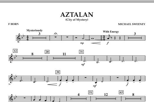 Aztalan (City of Mystery) - F Horn (Concert Band)