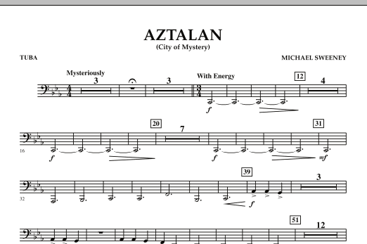 Aztalan (City of Mystery) - Tuba (Concert Band)