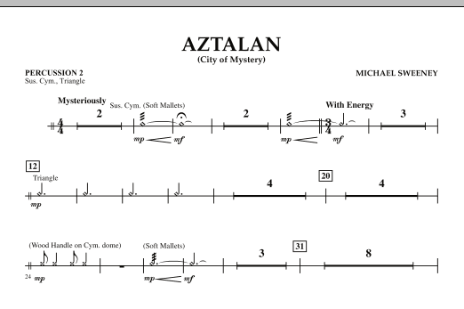 Aztalan (City of Mystery) - Percussion 2 (Concert Band)