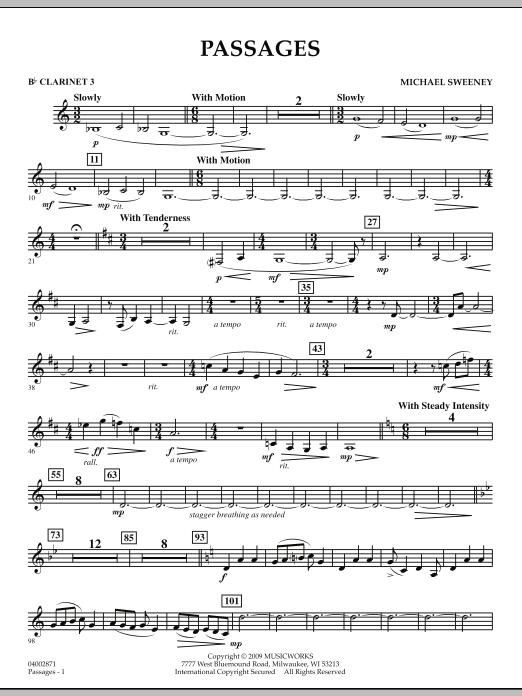 Passages - Bb Clarinet 3 (Concert Band)