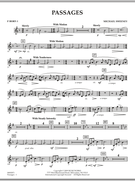 Passages - F Horn 1 (Concert Band)