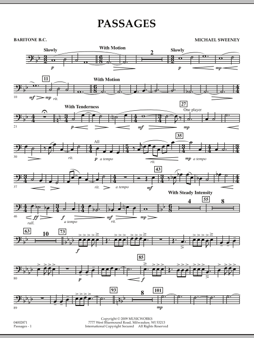Passages - Baritone B.C. (Concert Band)