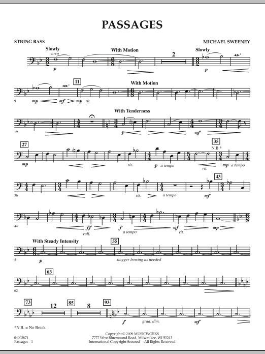 Passages - String Bass (Concert Band)