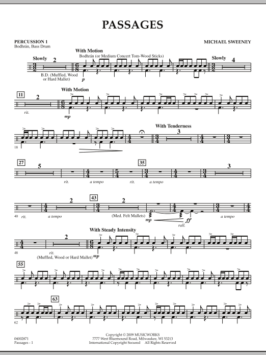 Passages - Percussion 1 (Concert Band)