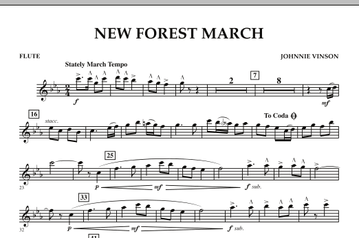 New Forest March - Flute (Concert Band)