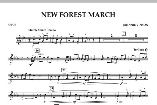 New Forest March - Oboe (Concert Band)
