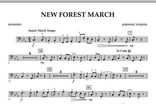 New Forest March - Bassoon (Concert Band)