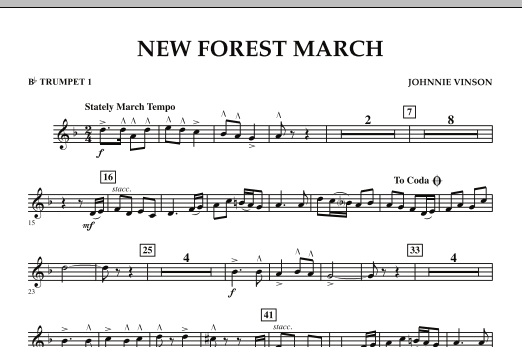 New Forest March - Bb Trumpet 1 (Concert Band)