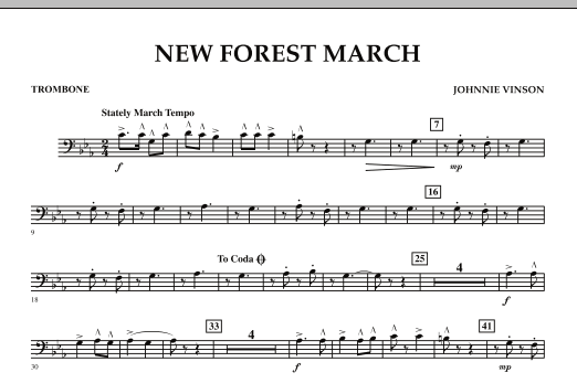 New Forest March - Trombone (Concert Band)