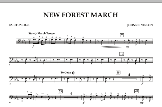 New Forest March - Baritone B.C. (Concert Band)