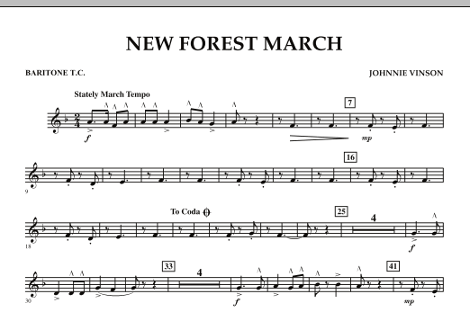 New Forest March - Baritone T.C. (Concert Band)