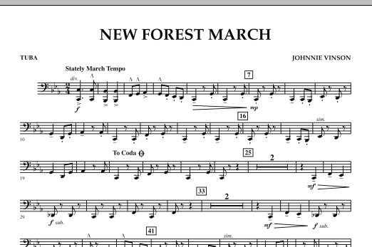 New Forest March - Tuba (Concert Band)