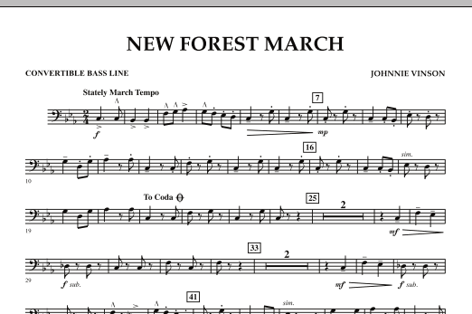 New Forest March - Convertible Bass Line (Concert Band)