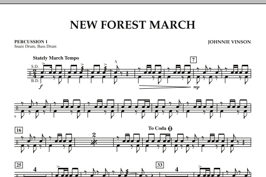 New Forest March - Percussion 1 (Concert Band)