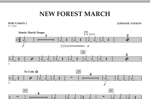 New Forest March - Percussion 2 (Concert Band)