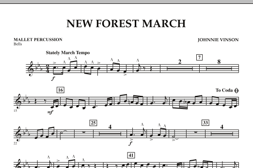 New Forest March - Mallet Percussion (Concert Band)