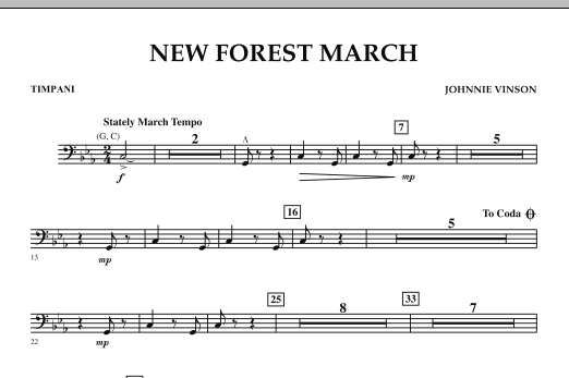 New Forest March - Timpani (Concert Band)