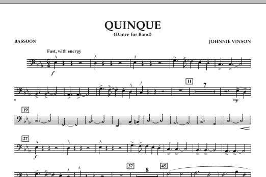 Quinque (Dance for Band) - Bassoon (Concert Band)