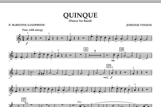 Quinque (Dance for Band) - Eb Baritone Saxophone (Concert Band)