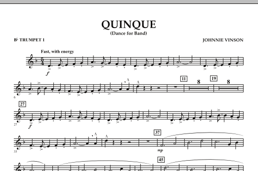 Quinque (Dance for Band) - Bb Trumpet 1 (Concert Band)