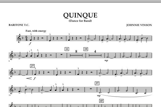 Quinque (Dance for Band) - Baritone T.C. (Concert Band)