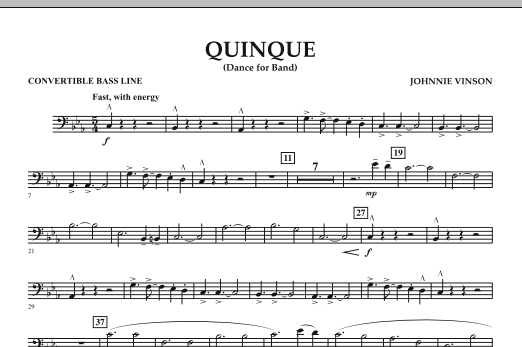Quinque (Dance for Band) - Convertible Bass Line (Concert Band)