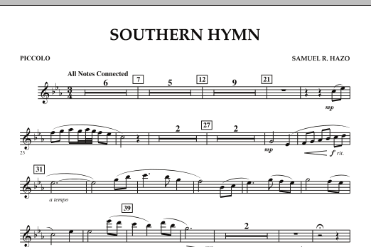 Southern Hymn - Piccolo (Concert Band)