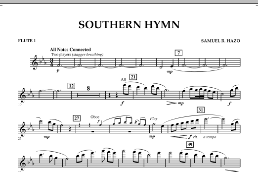 Southern Hymn - Flute 1 (Concert Band)