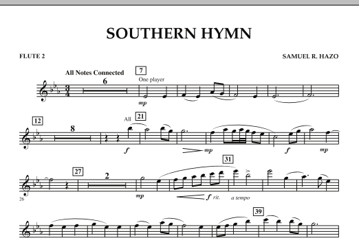 Southern Hymn - Flute 2 (Concert Band)
