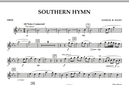 Southern Hymn - Oboe (Concert Band)