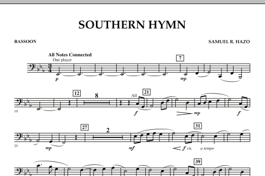 Southern Hymn - Bassoon (Concert Band)