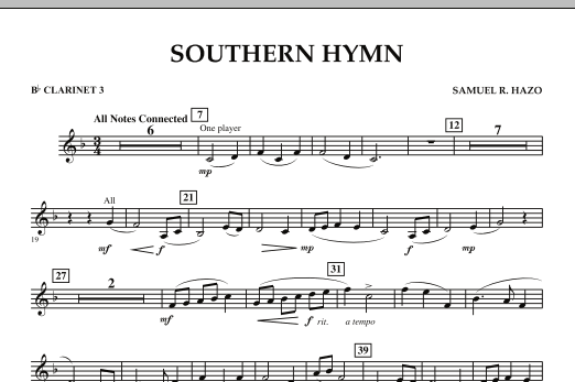 Southern Hymn - Bb Clarinet 3 (Concert Band)