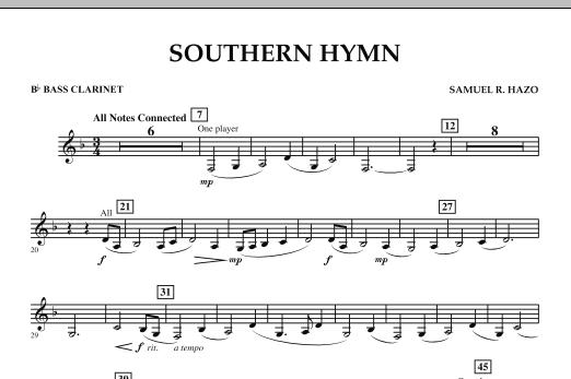 Southern Hymn - Bb Bass Clarinet (Concert Band)