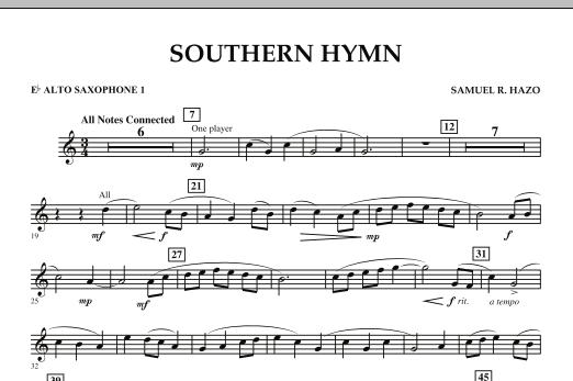 Southern Hymn - Eb Alto Saxophone 1 (Concert Band)