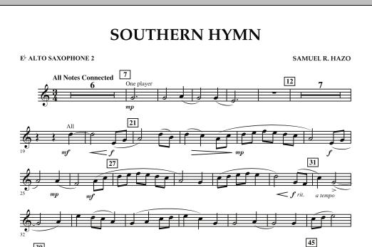 Southern Hymn - Eb Alto Saxophone 2 (Concert Band)