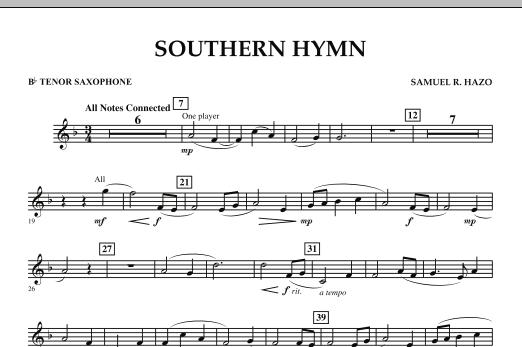 Southern Hymn - Bb Tenor Saxophone (Concert Band)