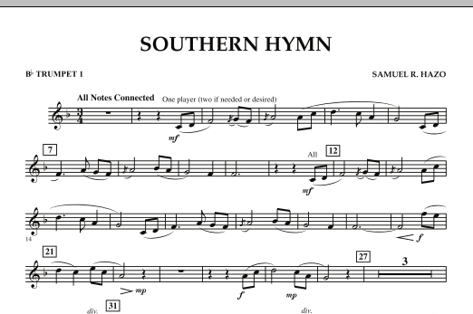 Southern Hymn - Bb Trumpet 1 (Concert Band)