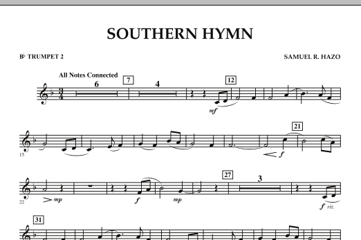 Southern Hymn - Bb Trumpet 2 (Concert Band)