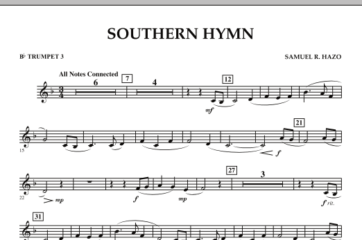 Southern Hymn - Bb Trumpet 3 (Concert Band)