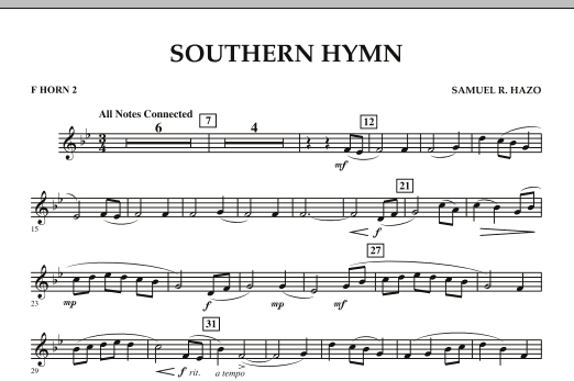 Southern Hymn - F Horn 2 (Concert Band)