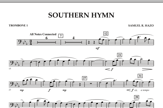 Southern Hymn - Trombone 1 (Concert Band)
