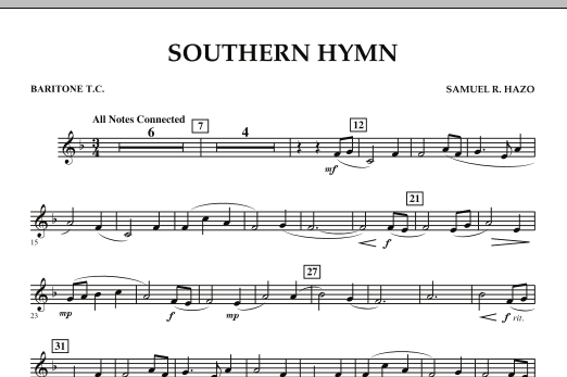 Southern Hymn - Baritone T.C. (Concert Band)