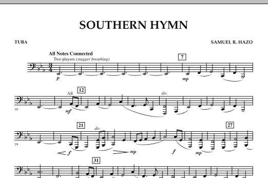 Southern Hymn - Tuba (Concert Band)