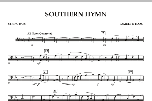Southern Hymn - String Bass (Concert Band)