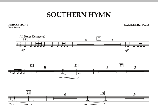 Southern Hymn - Percussion 1 (Concert Band)